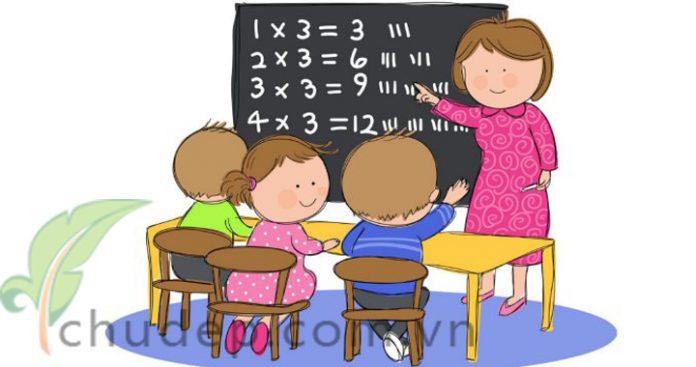 dạy toán cho trẻ ở nhà